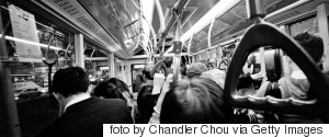 CROWDED BUS INSIDE