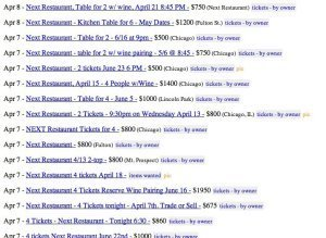Next Restaurant Craigslist