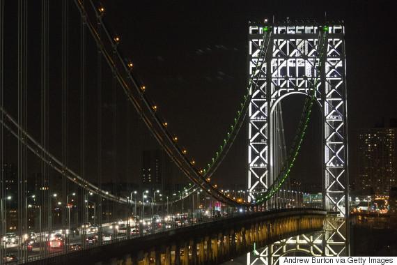 george washington bridge lights