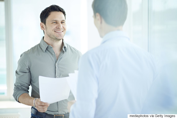 guys talking in office