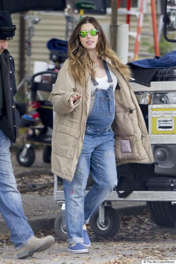 Pregnant Jessica Biel Gets To Work On Set Of 'The Devil ...