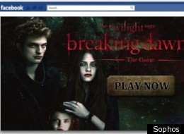 Facebook Twilight Game Scam