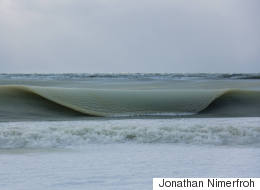 LOOK: Ethereal 'Slurpee' Waves Roll Onto Frigid Nantucket Beach