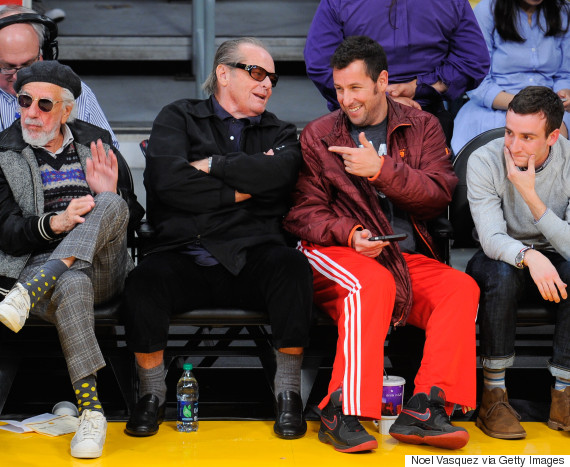 jack nicholson basketball game