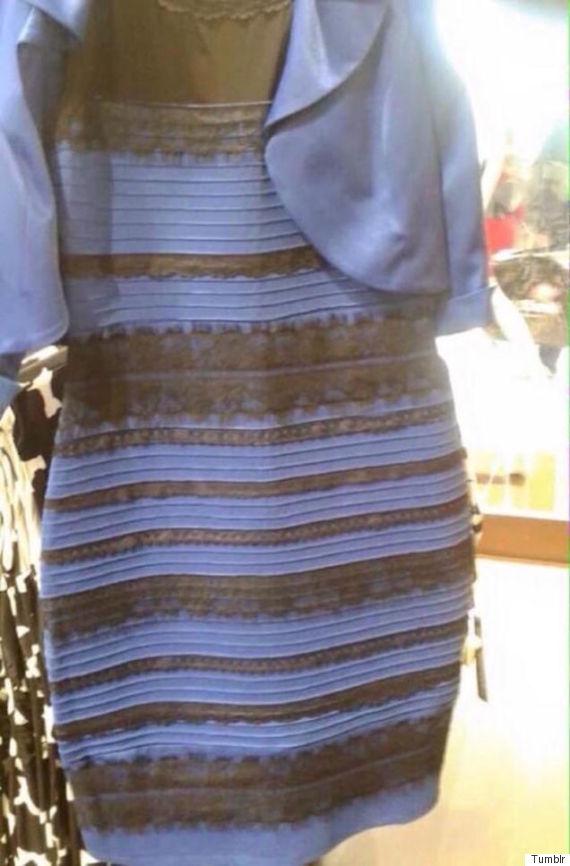 もっと見る 青と黒 白と金 ドレス