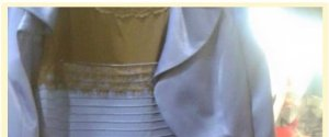BLACK AND BLUE GOLD AND WHITE DRESS