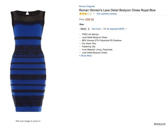 Is the dress blue and black or white and gold images of 5