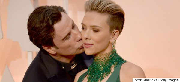 Scarlett Insists 'Nothing Inappropriate' About Travolta Kiss