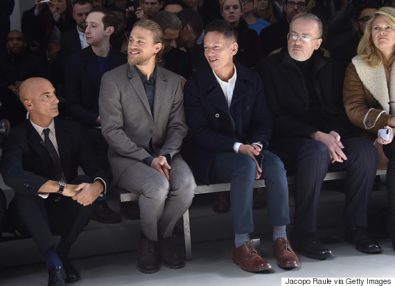 charlie hunnam fashion week