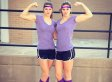 Twin Pole-Vaulters Have Matching (And Amazing) Athletic Ability