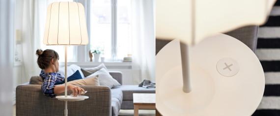 handys einfach aufladen ikea baut drahtlose ladestationen in m bel ein. Black Bedroom Furniture Sets. Home Design Ideas
