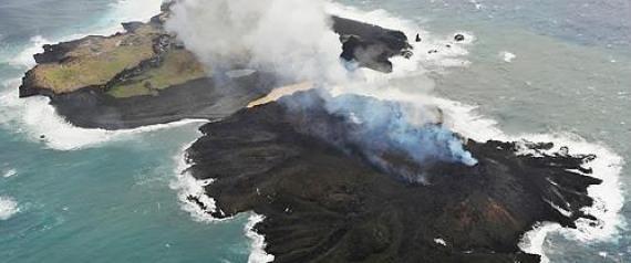 화산폭발로 생긴 일본섬, 16개월째 커져 도쿄돔 52배