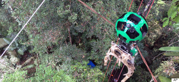 Zip-Line Through The Amazon Jungle With Google's Newest Feature