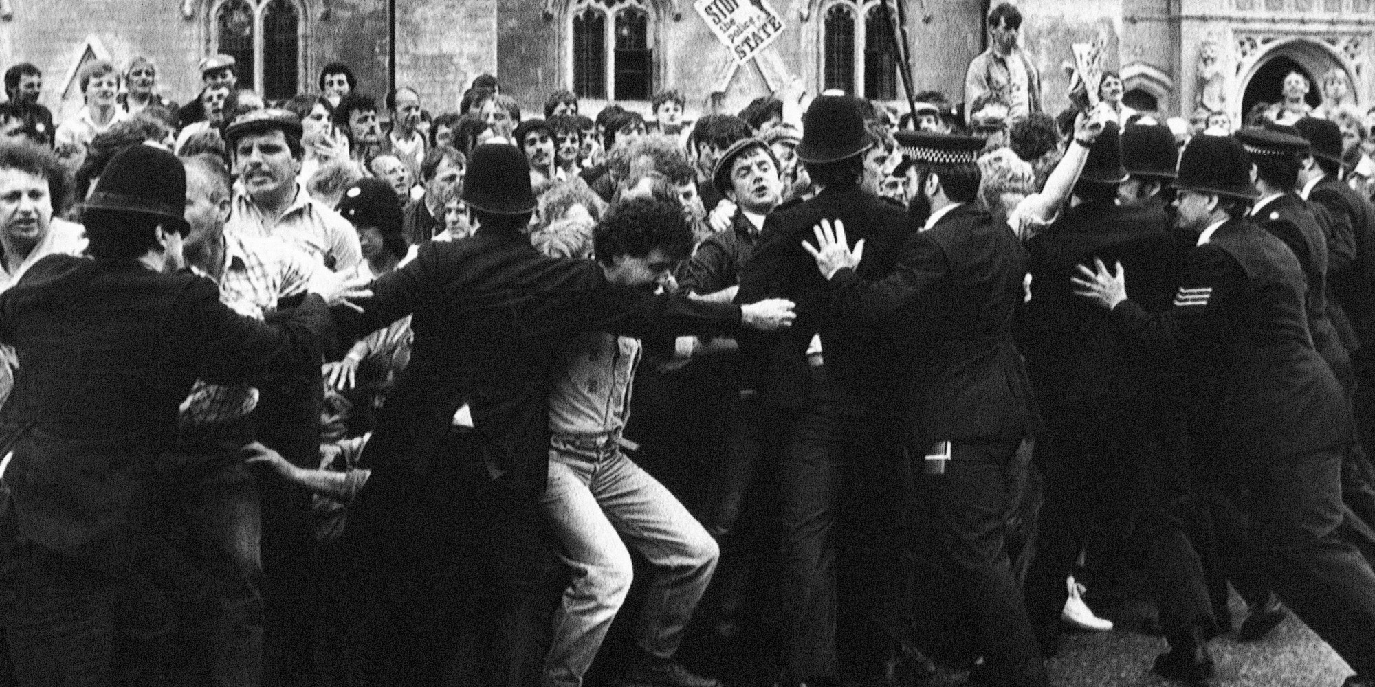 miners attack 1984