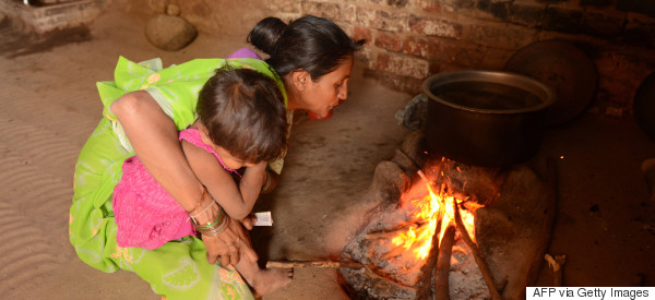 india villager cooking