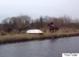 Horse Refuses To Jump Over Boat In The Most Spectacular Way Possible