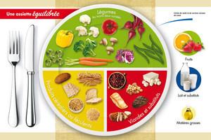 Assiette portion r gime pauvre en calories - Fruits pauvres en glucides ...