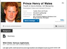 Prince Harry Updates His LinkedIn Page Now He's Leaving The Army