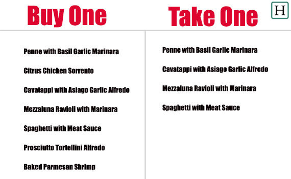 Olive Garden 39 S New 39 Buy One Take One 39 Deal Sends Diners Home With A Free Meal Huffpost