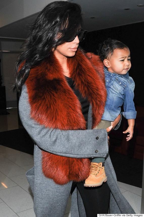 kim kardashian fur north