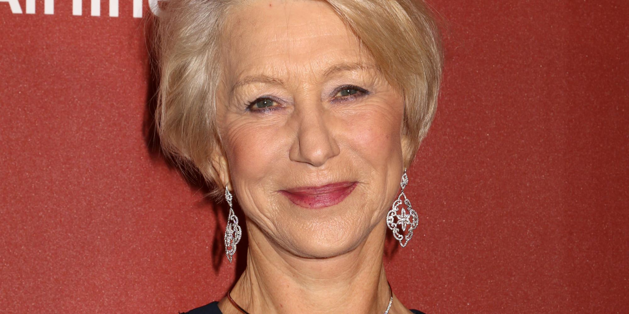 Helen Mirren Looks Absolutely Fabulous In A Sheer, Glittering Dress ...