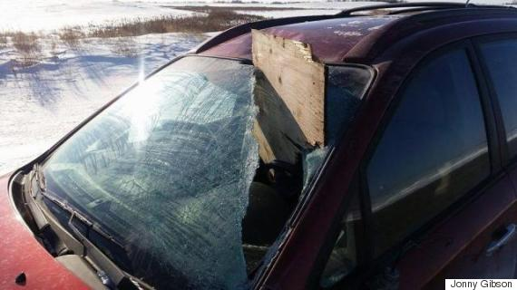 plywood windshield