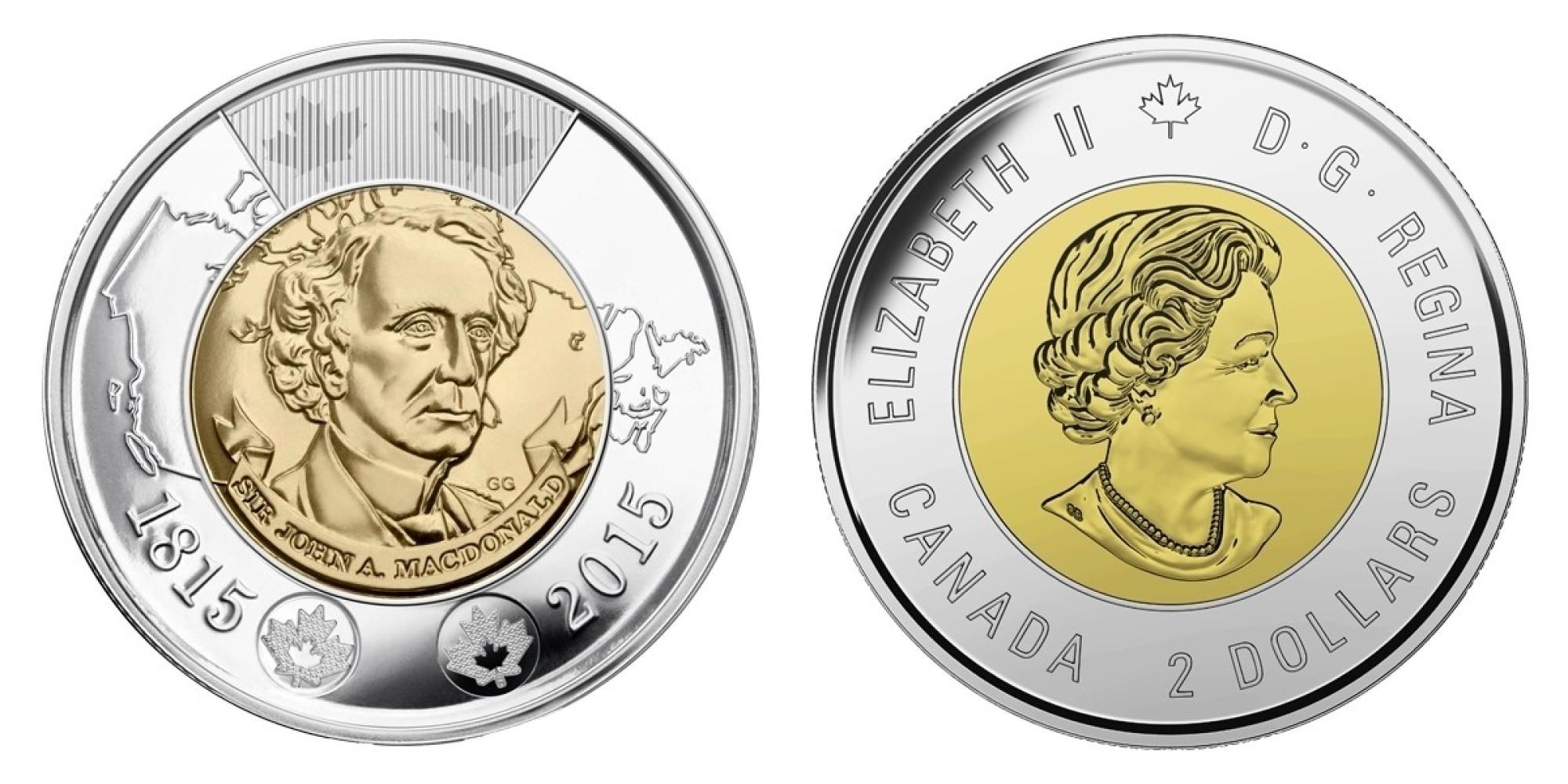 Canadian loonie and toonie