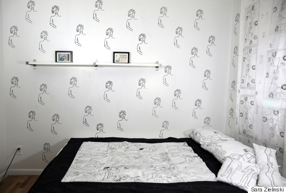faces on wall zielinski art
