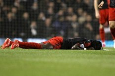 Bafetimbi Gomis after collapsing | Pic: Getty