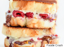 Be Still Our Hearts: Raspberry Chocolate Grilled Cheese Sandwiches