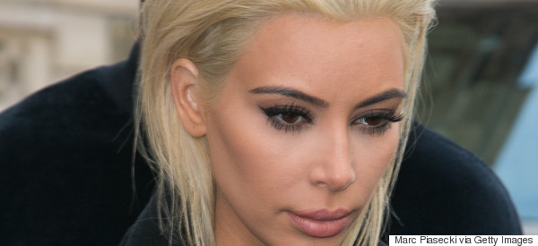 Kim K Just Unveiled A Platinum Blonde Dye Job