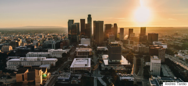 Flying Over Los Angeles With A Camera