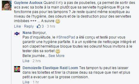 commentaire fb shredpad