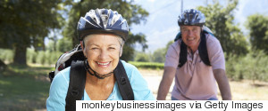 OLDER WOMAN ON BIKE