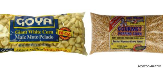 giant white corn versus popping corn