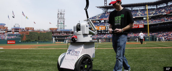 Robot Throws First Pitch