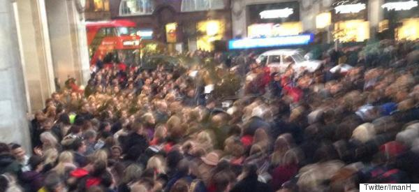 This Oxford Circus Crush Led To Scuffles In The Streets