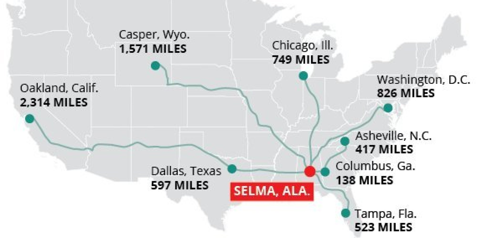 Thousands Of Miles Are No Big Deal For These Citizens Traveling To Selma This