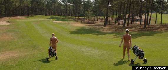 Naked Golfers. With rules barring clothing, France's La Jenny Naturist Golf ...