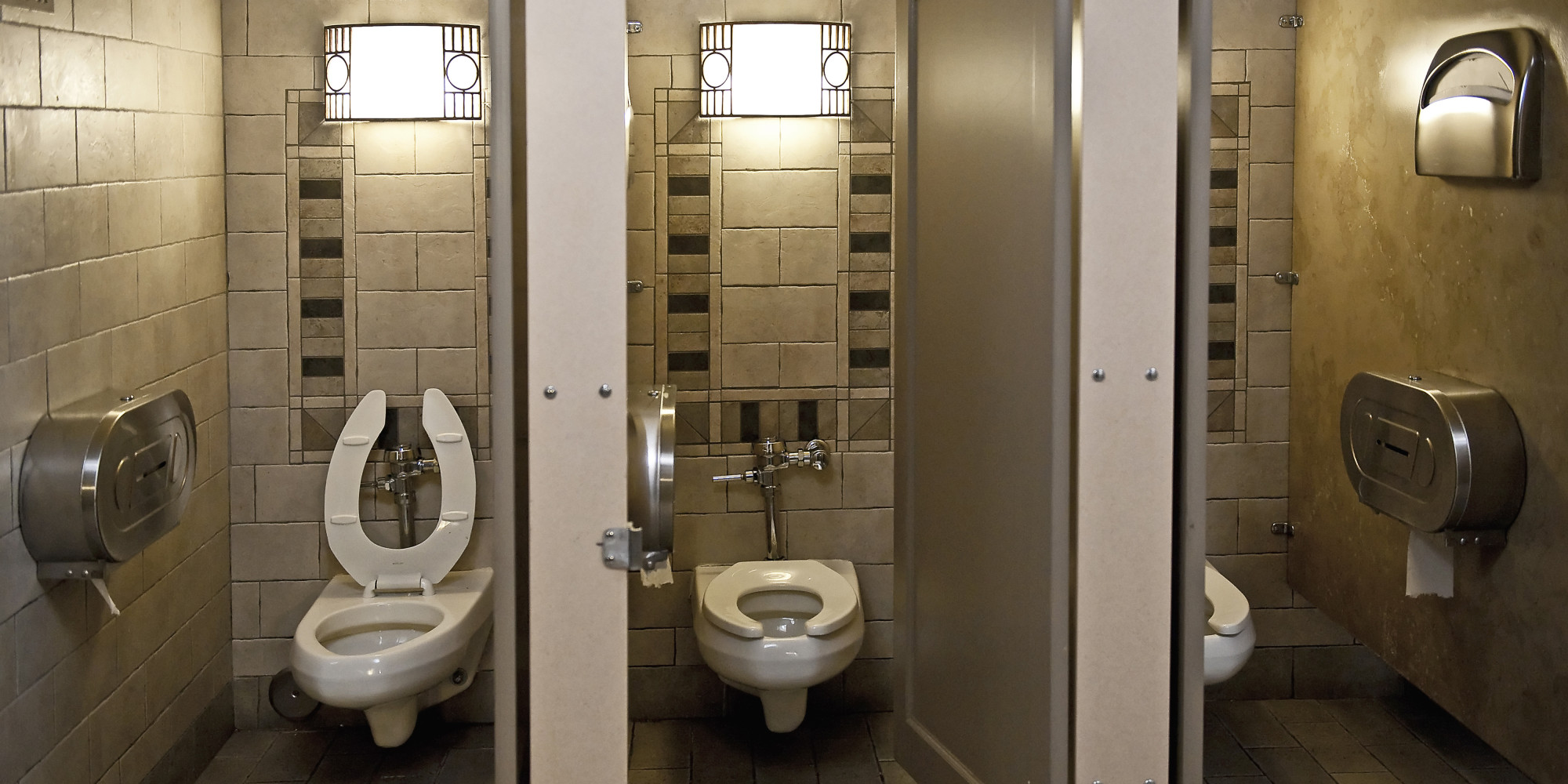 California border patrol supervisor arrested over bathroom camera huffpost for Which bathroom stall is used most often
