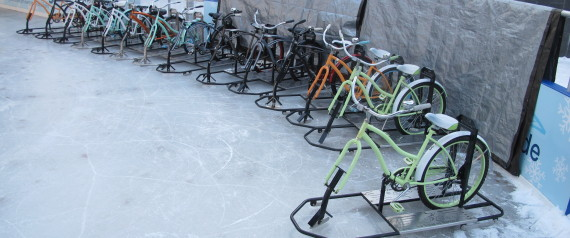Bikes N More In Cheektowaga Ny A line of ice bikes await