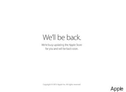 The Apple Store Is Down Already