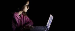 Woman Dark Computer