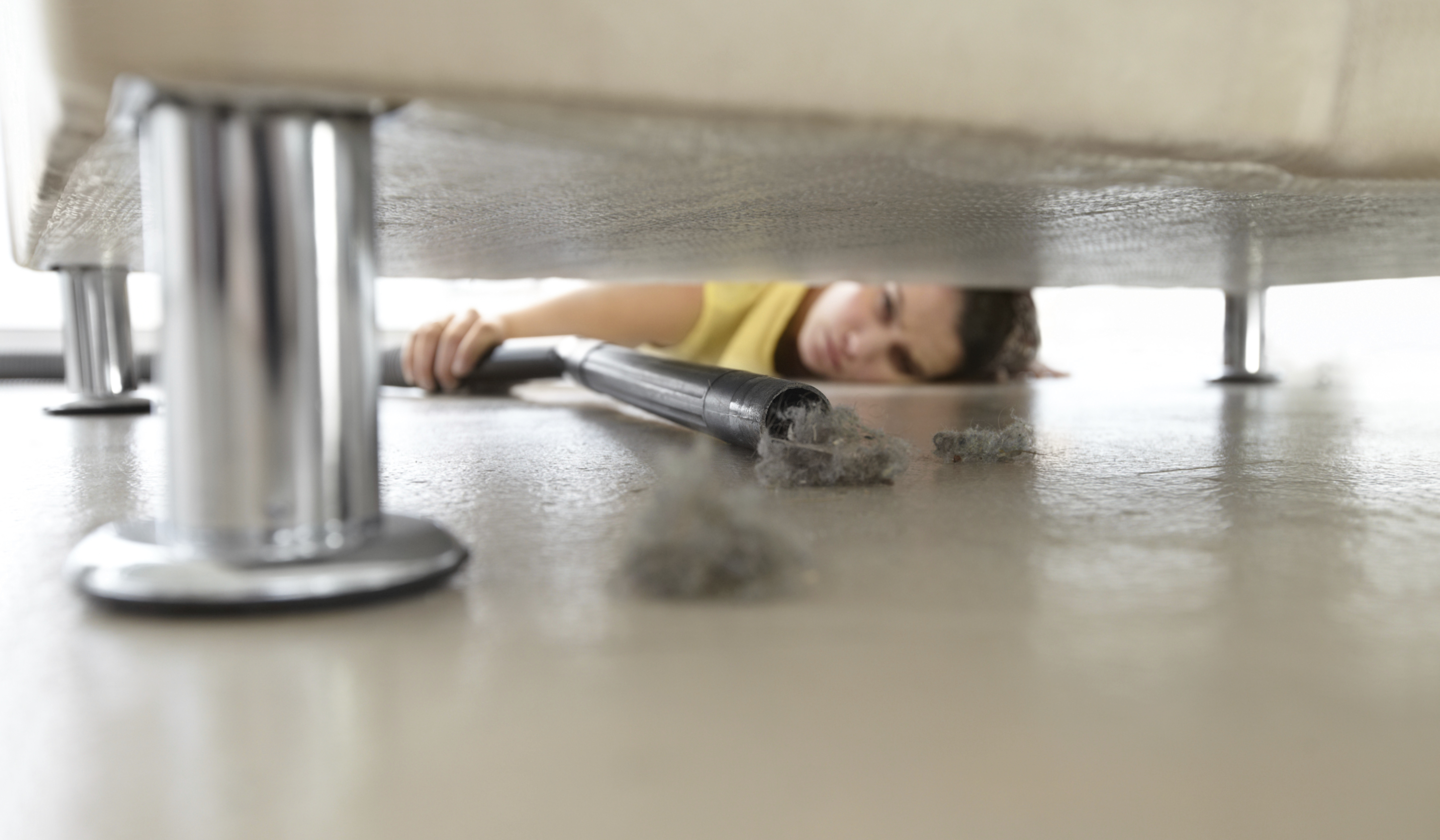 dust under sofa