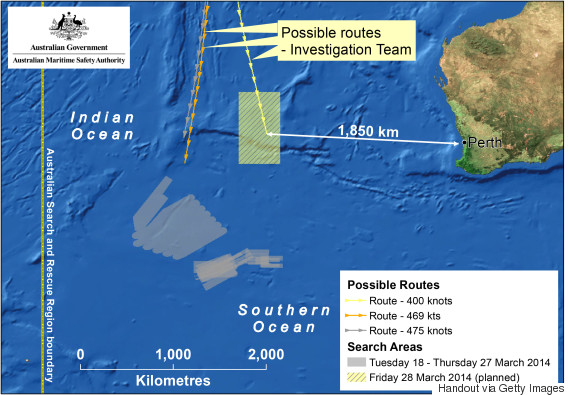 mh370 australia map