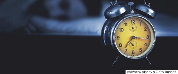 alarm clock at night