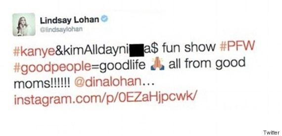 lindsay lohan n word