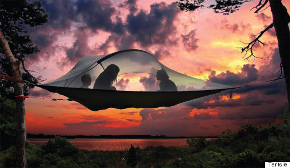 tentsile sunset & Hammock Tents Will Have You Sleeping In The Heavens | HuffPost