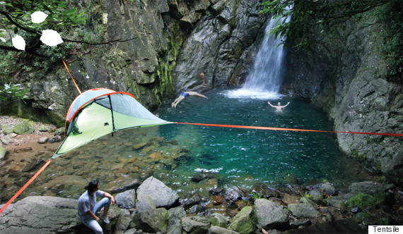 tentsile_waterfall & Hammock Tents Will Have You Sleeping In The Heavens | HuffPost
