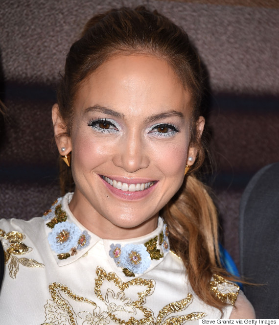 Jennifer Lopez Manages To Make Blue Eye Shadow And A
